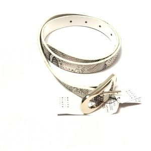 White House Black Market Womens Belt Animal Skin